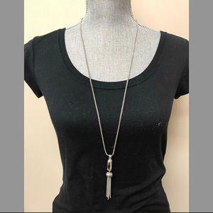 "ZokyDoky Jewelry - 30"" ""Majestic"" Tassel & Crystal Necklace, NWT"